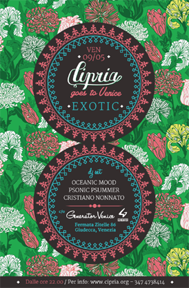 Cipria Goes To Venice- Exotic@Generator Hostel- Artwork Veritcale- Web
