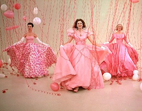 Think+Pink+funny+face+ballgowns+and+balloons