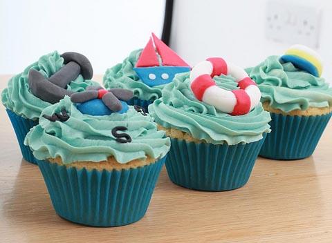 Nautical-Cupcakes